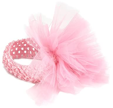 Amazon.com  Mud Pie Newborn Baby-Girls Tulle Puff Headband  Infant ... e08b1e195f9