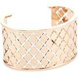 "Rebecca ""Melrose"" Rose Gold Over Bronze Crossweave Cuff (medium)"
