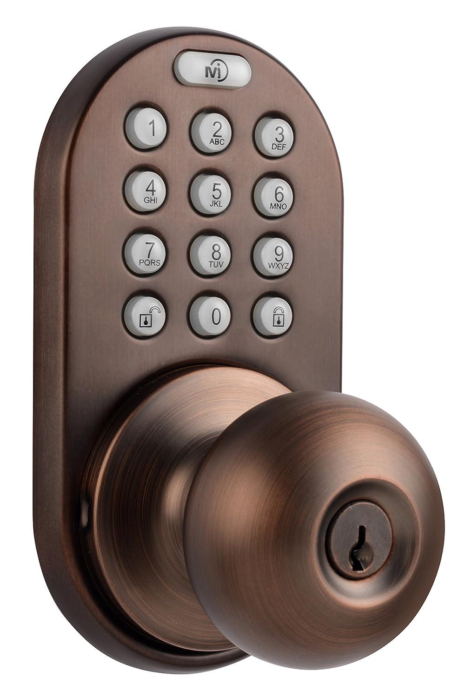 Milocks dkk 02ob electronic touchpad entry keyless door lock oil milocks dkk 02ob electronic touchpad entry keyless door lock oil rubbed bronze amazon rubansaba