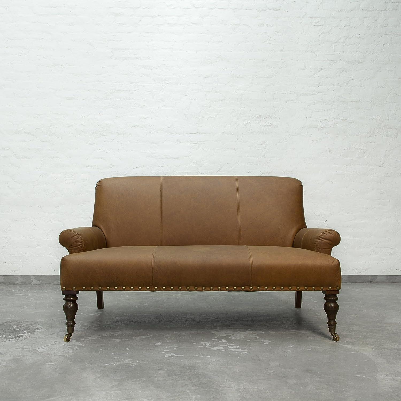 Carlton Sofa Collection 2 Seater Chestnut Leather Amazon