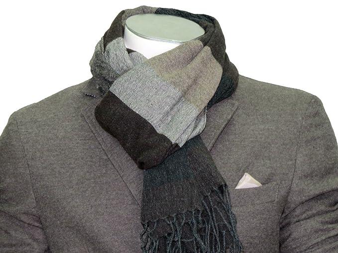 sciarpa lana pashmina fasciat wool fashion moda uomo donna prezzo doc made  italy colore Grigio 1a7856fce4ab