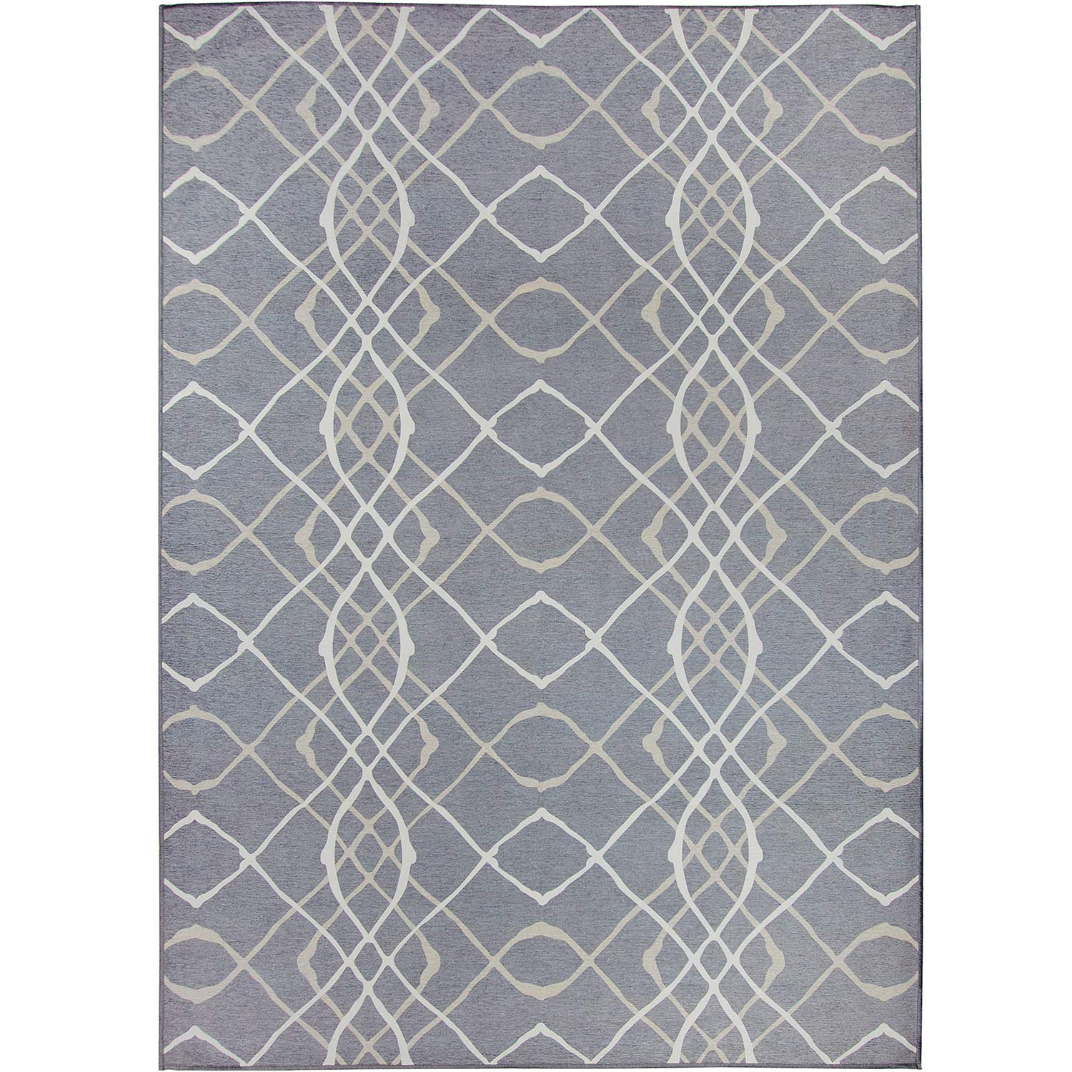 RUGGABLE Washable Stain Resistant Indoor/Outdoor, Kids, Pets, and Dog Friendly Area Rug 5'x7' Amara Grey