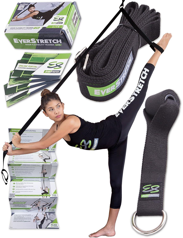 Bein Keilrahmen: Mehr flexibel mit der Tür Flexibilität Trainer Lite von everstretch: Premium Dehnung Equipment für Ballett, Tanz, MMA, Taekwondo & Gymnastik. Ihre eigenen Tragbare Stretch Maschine.