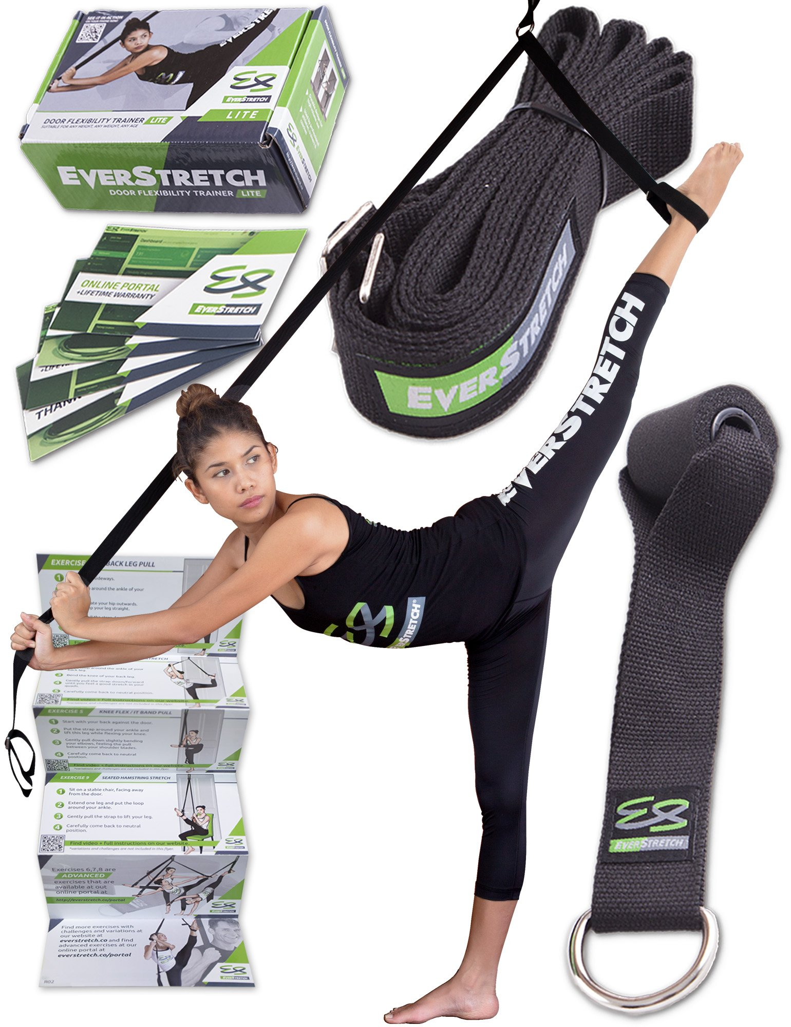 Leg Stretcher: Get More Flexible With The Door Flexibility Trainer LITE by EverStretch: Premium stretching equipment for ballet, dance, MMA, taekwondo & gymnastics. Your own portable stretch machine! by EverStretch