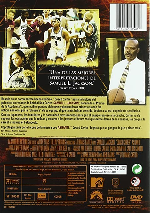 Amazon.com: Coach Carter (Import Movie) (European Format - Zone 2) (2005) Samuel L. Jackson; Robert Richard; Rob Brown;: Movies & TV