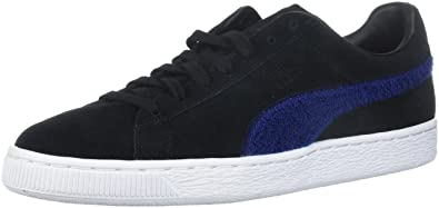 ffe5d42ceab2 PUMA Men s Suede Classic Terry Sneaker Black-Blue Depths