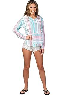 f113b5c75e Exist / Southern Spirit Women's Baja Beach Terry Loop V-Neck Hoodie Printed  Stripes