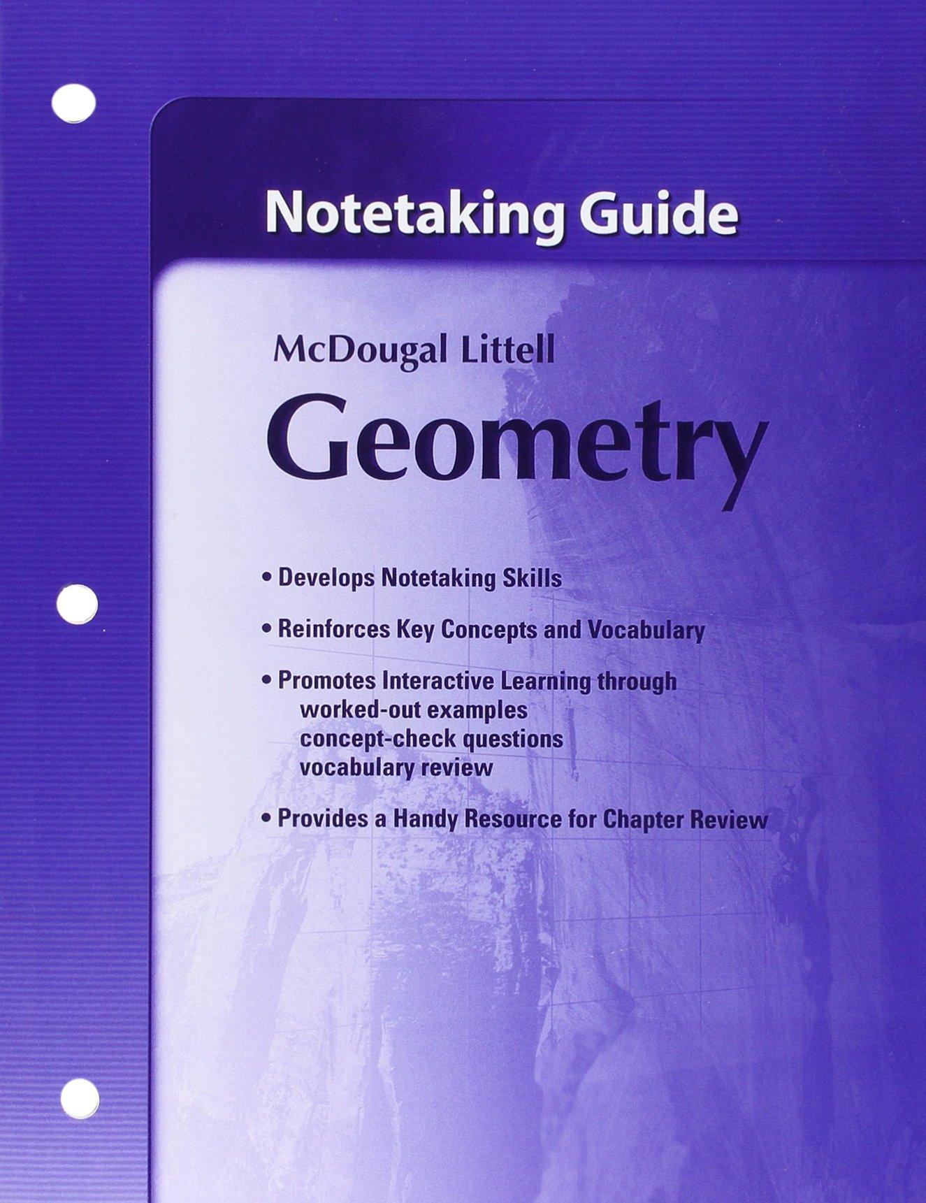 amazon com notetaking guide geometry 9780618736928 mcdougal rh amazon com Students for Note Taking Guide Algebra 1 Notetaking Guide