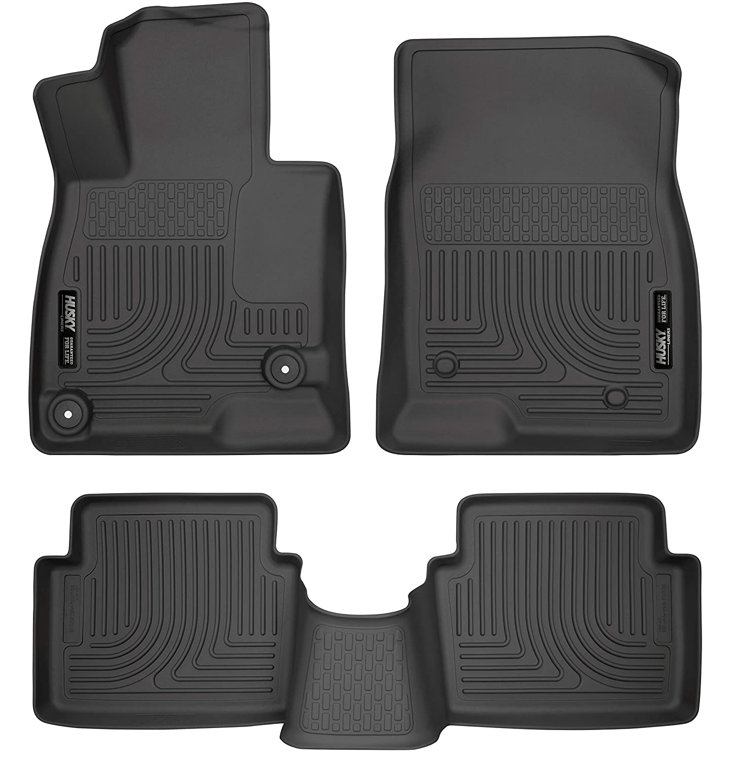 Husky Liners 98651 WeatherBeater Black Front and 2nd Seat Floor Liner