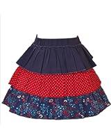 CrayonFlakes Kids Wear for Girls 100% Cotton Green Anglaise Skirt Short Skirt