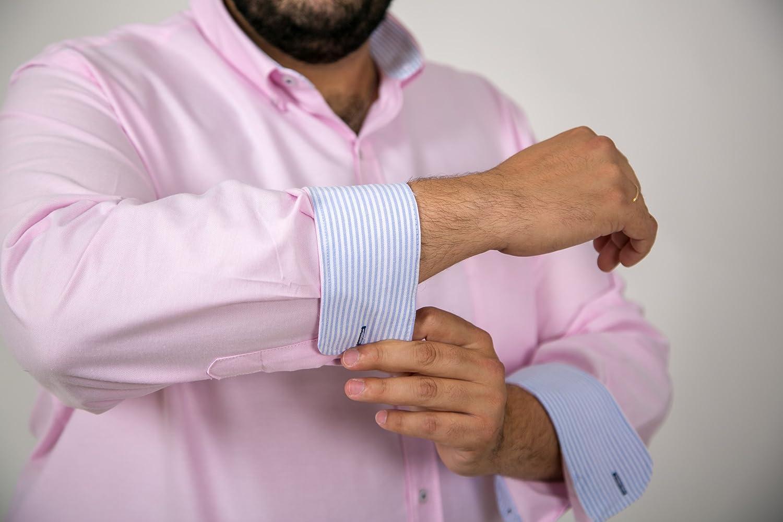 26b603aa7 Camisas Hombre Tallas Grandes Lisas Manga Larga