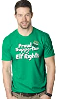 Crazy Dog T-Shirts Mens Elf Rights Supporter Funny Holiday Christmas T Shirt