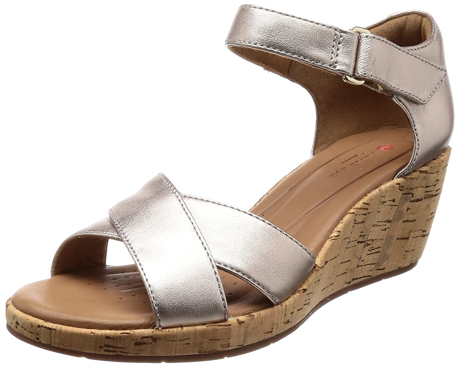 c7e9100000ab Clarks Women s s Un Plaza Cross Ankle Strap Sandals  Amazon.co.uk  Shoes    Bags