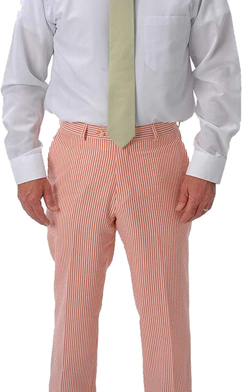 Affazy Orange Seersucker Pants 48 At Amazon Men S Clothing Store
