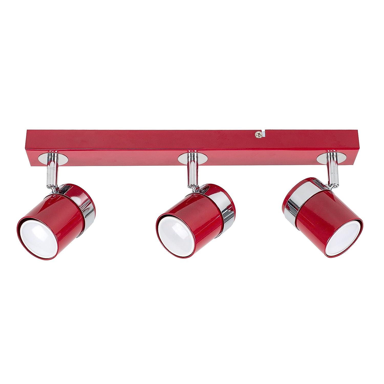 Modern 3 Way Cement/Stone Effect and Silver Chrome Straight Bar Ceiling Spotlight MiniSun
