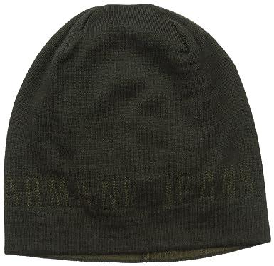 4f3c139879edc Armani Exchange Men s Wool Blend Knit Beanie Logo
