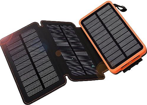 WBPINE Cargador Solar 24000mAh 3 Solar Panels Power Bank ...