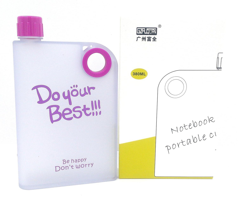 celebrationgift h2o water bottle flat reusable portable notebook