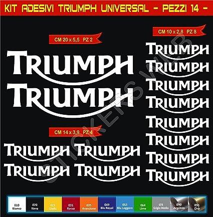 Pegatinas adhesivos TRIUMPH UNIVERSAL para motos, motocicletas. Cod.0637 (Oro cod. 091): Amazon.es: Deportes y aire libre