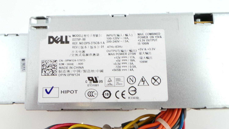. Dell 275 Watt Power Supply for Optiplex 755 745 PW124