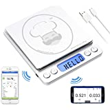 reflex 500g / 0.01g Digital Pocket Bluetooth smart food kitchen Scale grams and ounces USB rechargeable, portable…