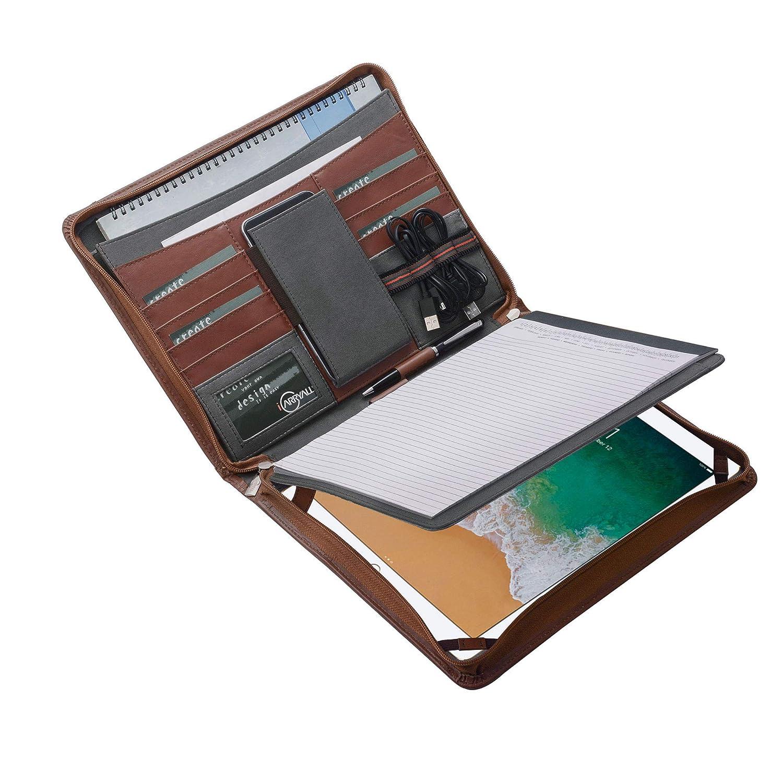 Amazon com: iPad Pro Portfolio Case with Notepad Holder