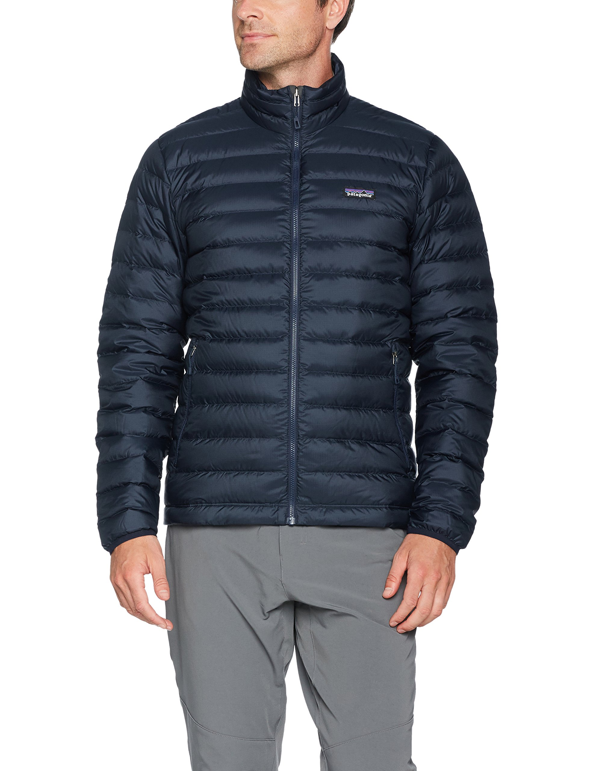 Patagonia Men's Down Sweater Jacket (Large, Navy Blue w/ Navy Blue) by Patagonia