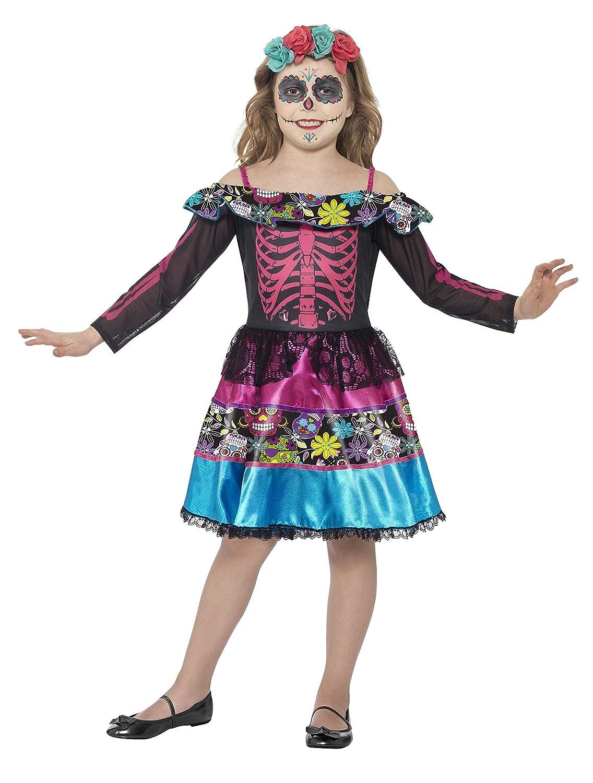 Smiffys Disfraz de Novia del día de Muertos,, Vestido y Diadema ...