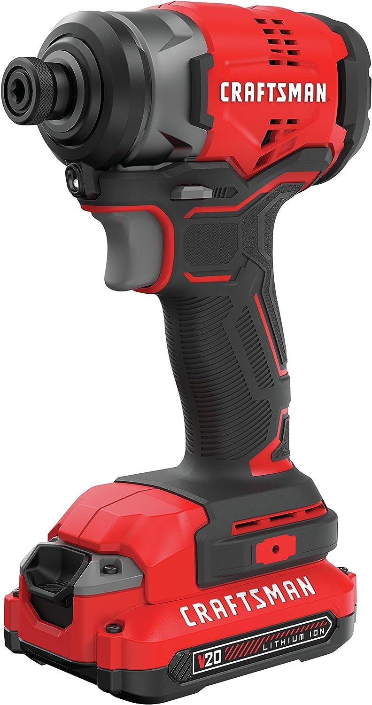 CRAFTSMAN V20 - Juego de destornilladores de impacto inalámbricos (CMCF810C1): Amazon.es: Bricolaje y herramientas