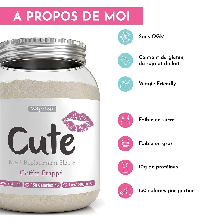 Cute Nutrition - Batido De Reemplazo De Comida - Café Frappe ...