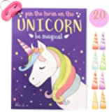 "Pin the Horn on the Unicorn Party Game | Kids, Games, Supplies, Decor, Decorations, Gifts, and Favors for Little Girls Birthday | Large 21"" x 28"" Poster 