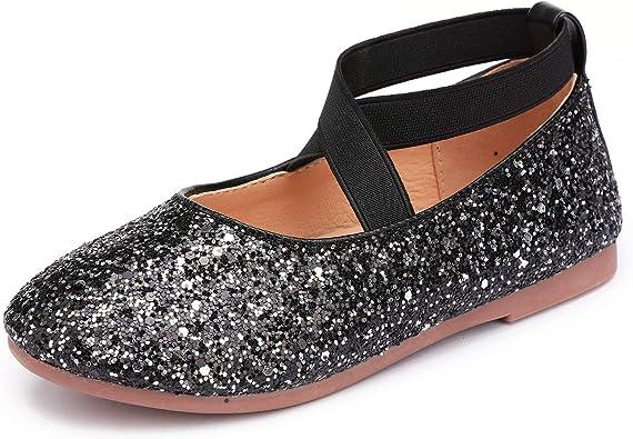 UBELLA Girls Flower Mary Jane Shoes Ballet Flats Wedding Dress Shoes Toddler//Little Kid