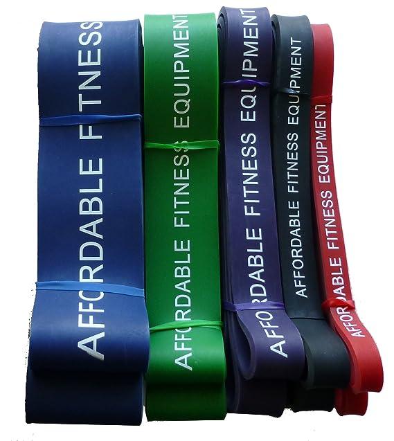 Bandas de resistencia para Crossfit - Levante - levantamiento de pesas - Fitness - 15 a 80 kg de resistencia (1 Banda Negra): Amazon.es: Deportes y aire ...