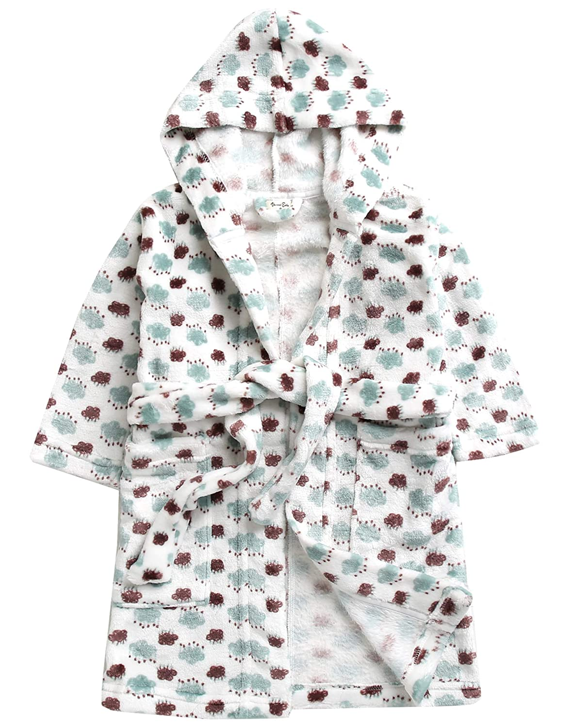 Vaenait baby Ultra Soft Plush Fleece Lightweight Kids Toddler Boys Hooded Bathrobes Sleepwear Robes 1-7 Years ROBE-009