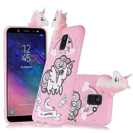 Amazon.com: Carcasa para Samsung Galaxy A6 2018, diseño de ...