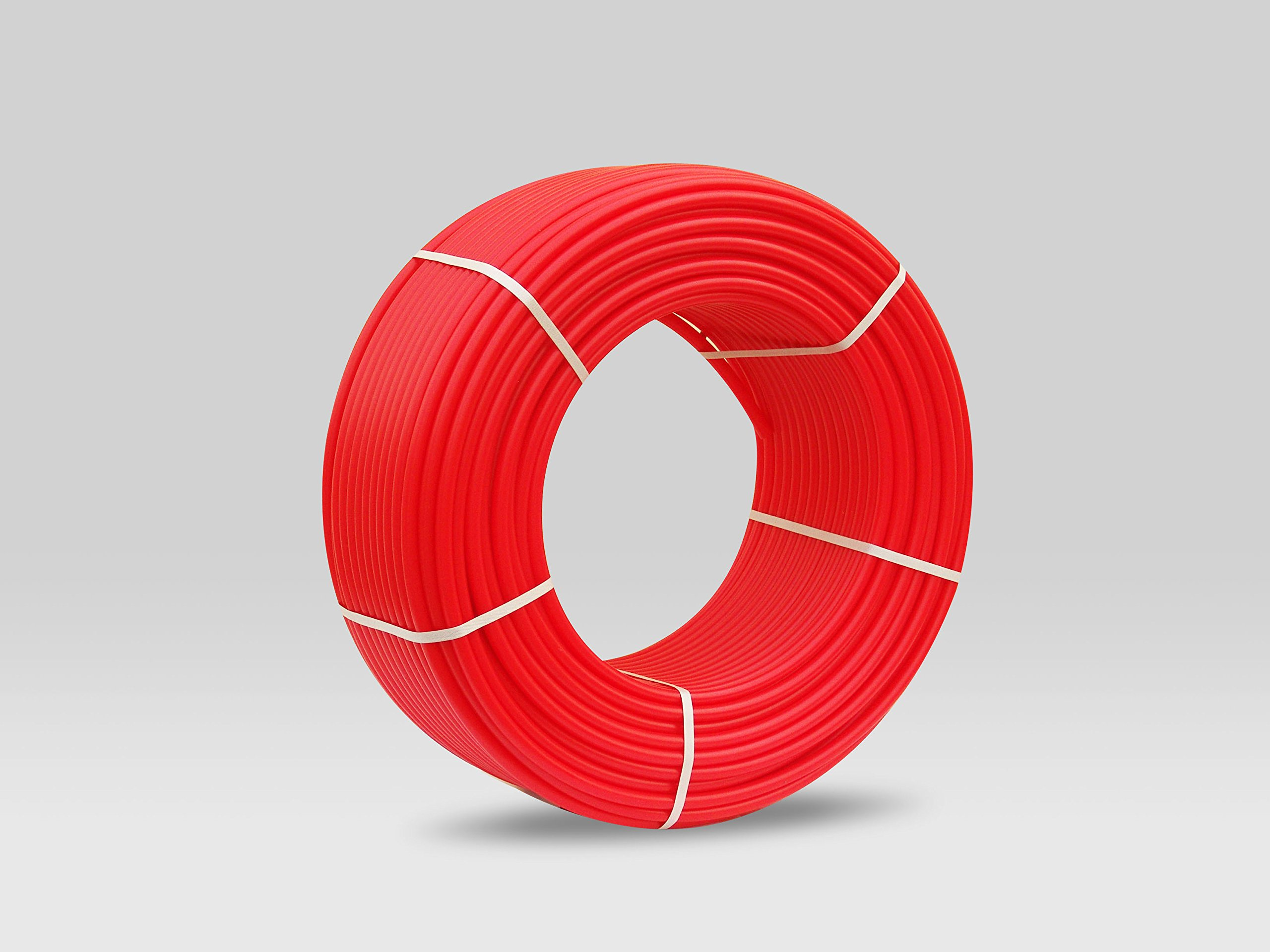 PEX Piping Red 3/4''/300ft-length for potable water Non Oxygen Barrier Piping for Hot/Cold Plumbing and Heating Applications …
