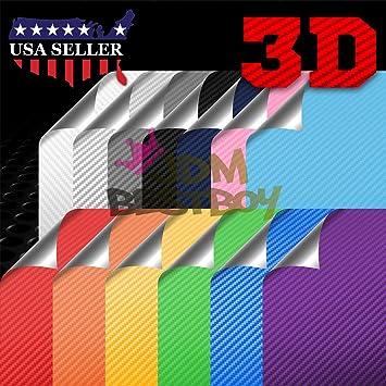 *3D Premium Matte Light Blue Textured Carbon Fiber Car Vinyl Wrap Sticker Decal