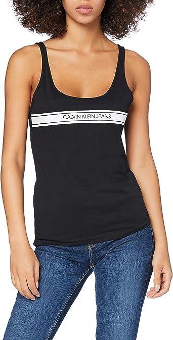 Calvin Klein Stripe Logo Scoop Neck Tank Camisa para Mujer: Amazon.es: Ropa y accesorios