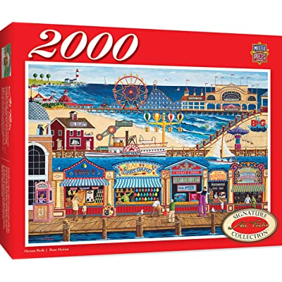 MasterPieces Signature Series, Jigsaw Puzzle, Ocean Park, Featuring Art by Art Poulin, 2000 Pieces: Toys & Games