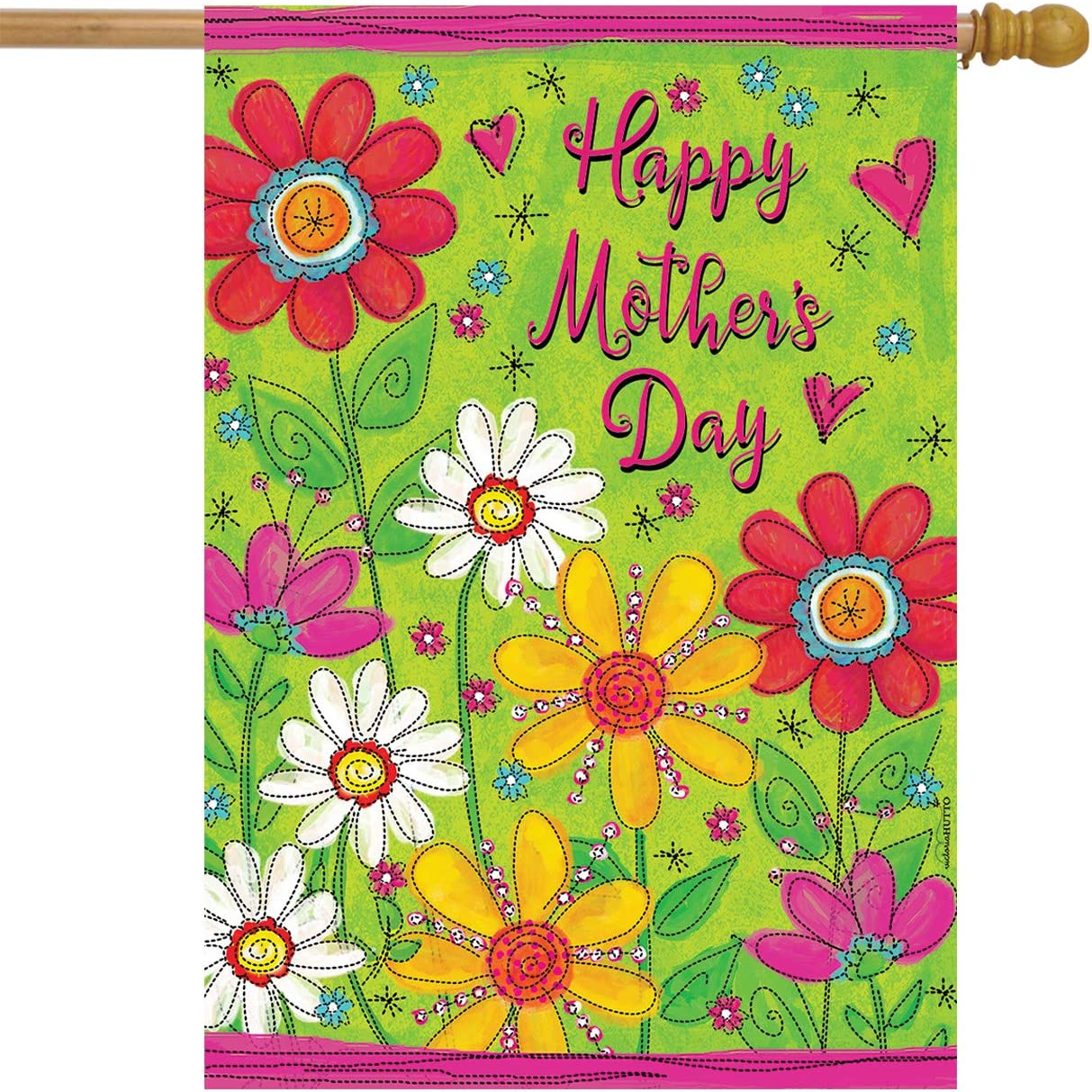 Briarwood Lane Mother's Day Floral House Flag Holiday Daisies 28