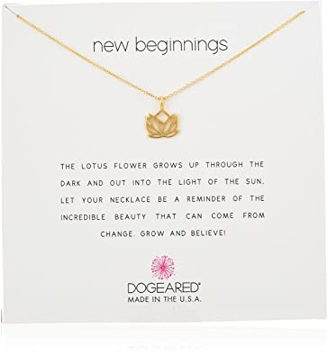 Amazoncom Dogeared New Beginnings Rising Lotus Gold Dipped 16
