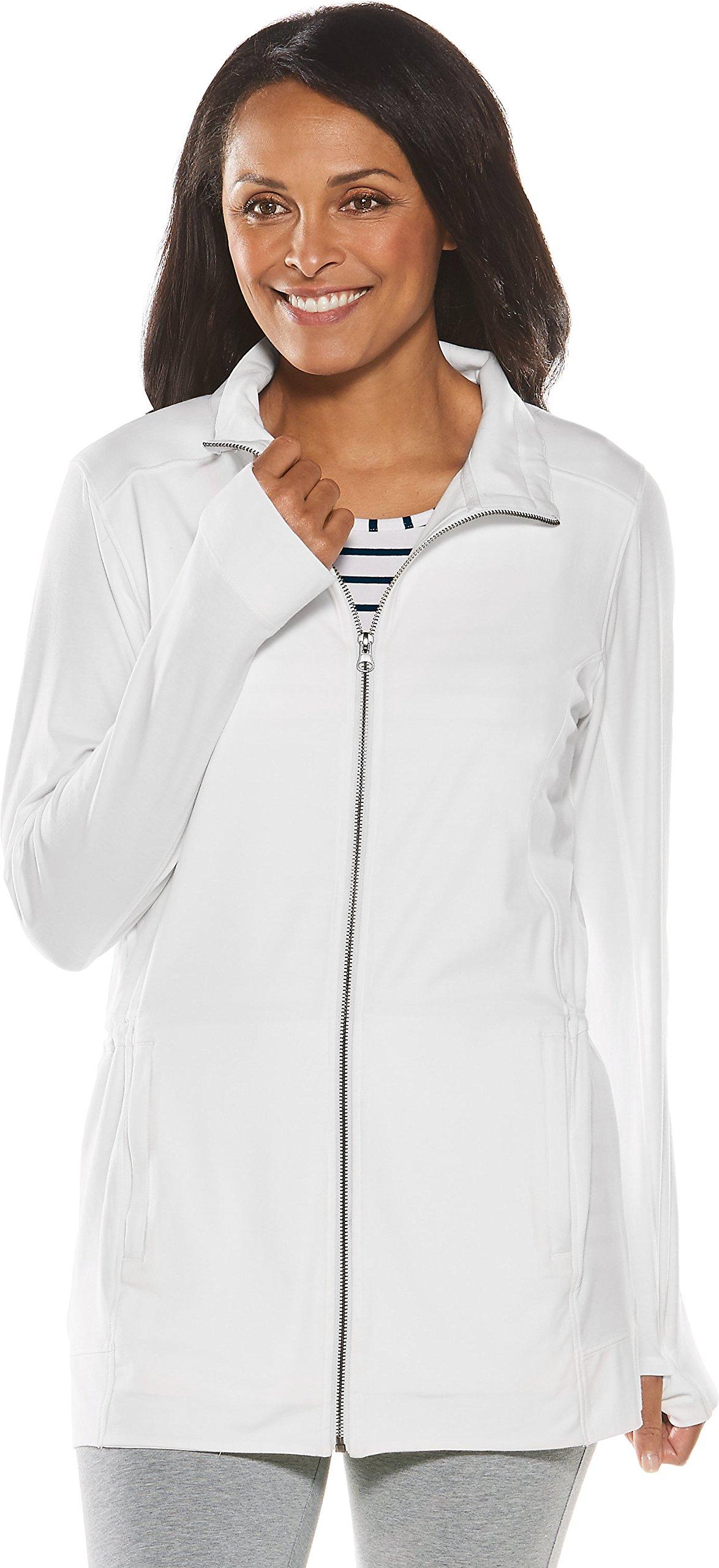 Coolibar UPF 50+ Women's Summer Jacket - Sun Protective (X-Large- White)