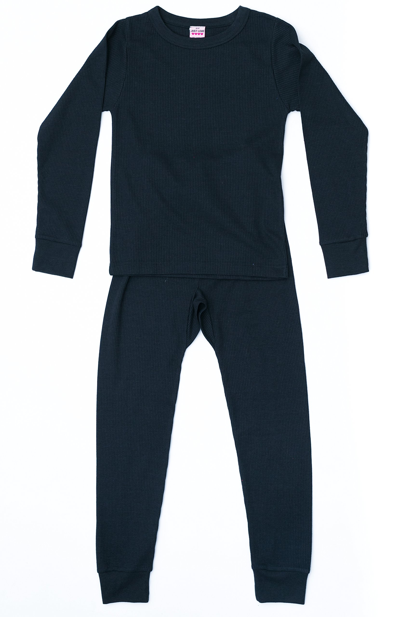 Just Love 95462-Black-7/8 Thermal Underwear Set for Girls