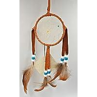 "All Tribe Silver Dream Catcher Native American Authentic Navajo Handmade 12"" Lx 3"" Veg Dark Brown in USA"