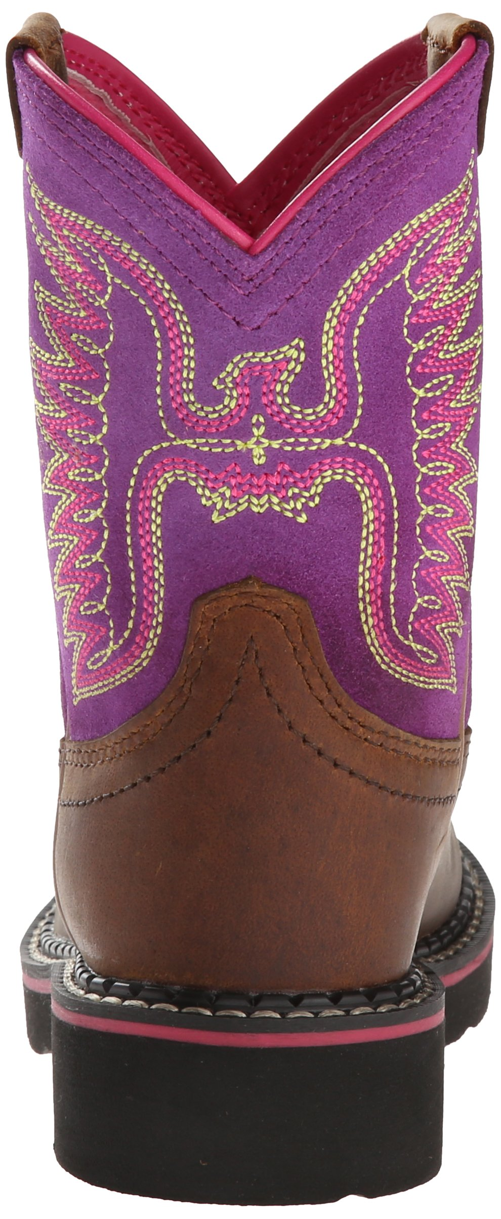 Kids' Fatbaby Thunderbird Western Cowboy Boot, Powder Brown/Amethyst, 12.5 M US Little Kid by ARIAT (Image #2)