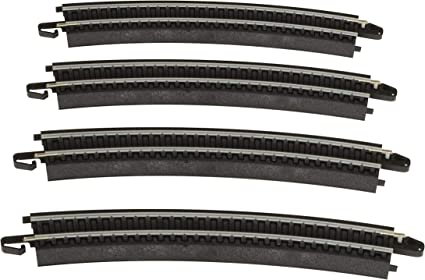 Bachmann Trains Snap-Fit E-Z Track 18 Radius Curved Track 4//card
