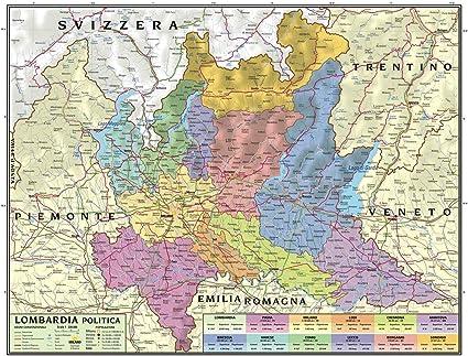 Svizzera Cartina Geografica Politica.Carta Geografica Murale Regionale Lombardia 100x140 Bifacciale Fisica E Politica Amazon It Cancelleria E Prodotti Per Ufficio