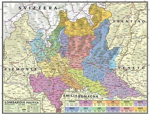 Cartina Geografica Politica Svizzera.Carta Geografica Murale Regionale Lombardia 100x140 Bifacciale Fisica E Politica Amazon It Cancelleria E Prodotti Per Ufficio