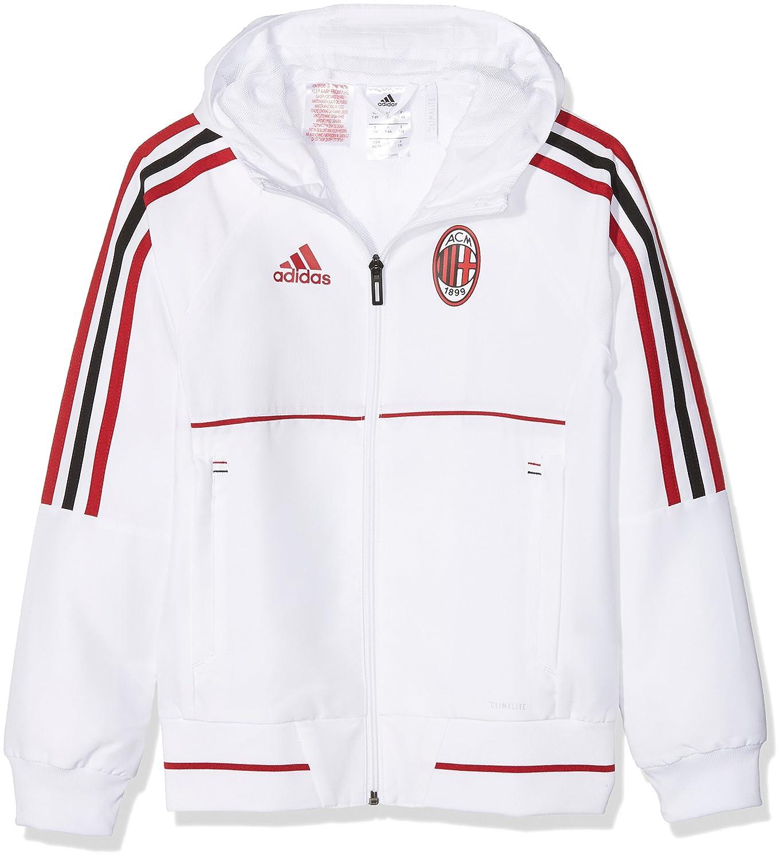 adidas Ac Mailand Kinder Präsentationsjacke White/Vicred/Black 128 AZ7101