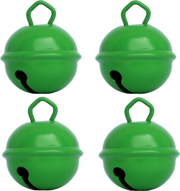 Cascabeles Verdes Grandes (25mm x4 Campanillas de Bronce Musicales Sonoros)- 16 Colores MUSIKID (Bebe Niños) Para Manualidades Navidad Boda Sonajeros ...